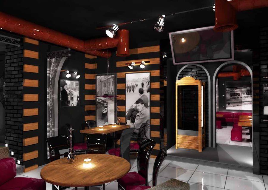 Идеи оформления бара и зала в 50 квадратов