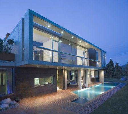 Строительство дома в стиле хай тек